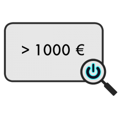 > 1000 €