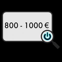 800 - 1000 €